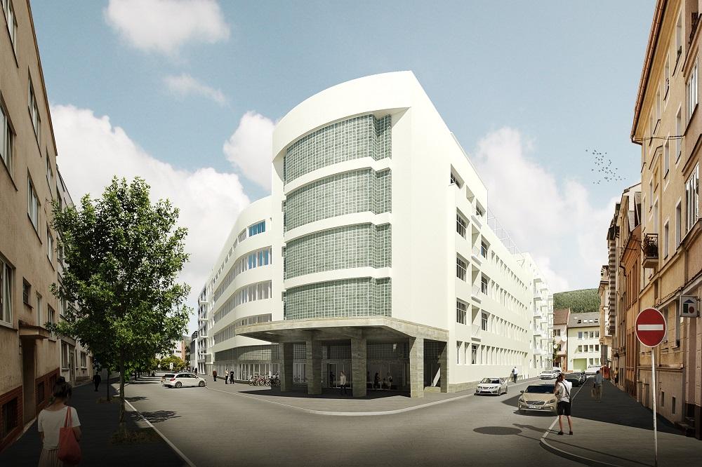 588d2dbb0 Výstavba štvorposchodovej administratívnej budovy vtedajších elektrární sa  začala v roku 1941 podľa projektov architektov Františka Eduarda Bednárika  a ...